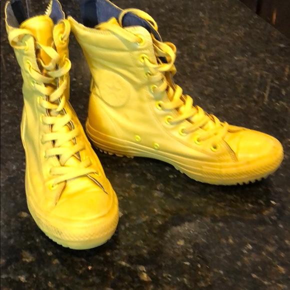 Converse Shoes | Yellow Converse Rain